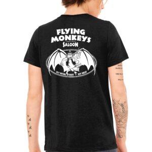classic flying monkeys t shirt black back