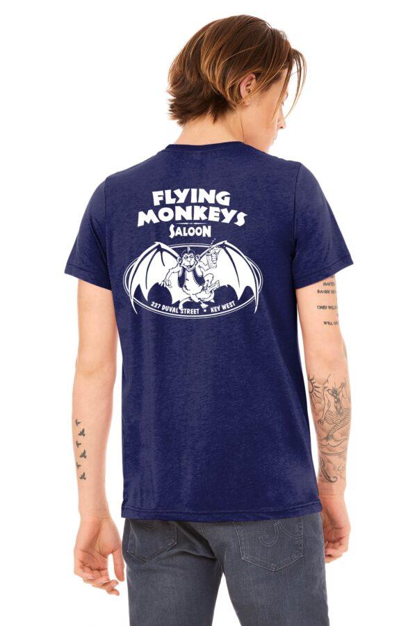 classic flying monkeys t shirt navy back