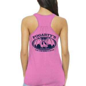 fogarty's and the flying monkeys saloon pink racer tank back