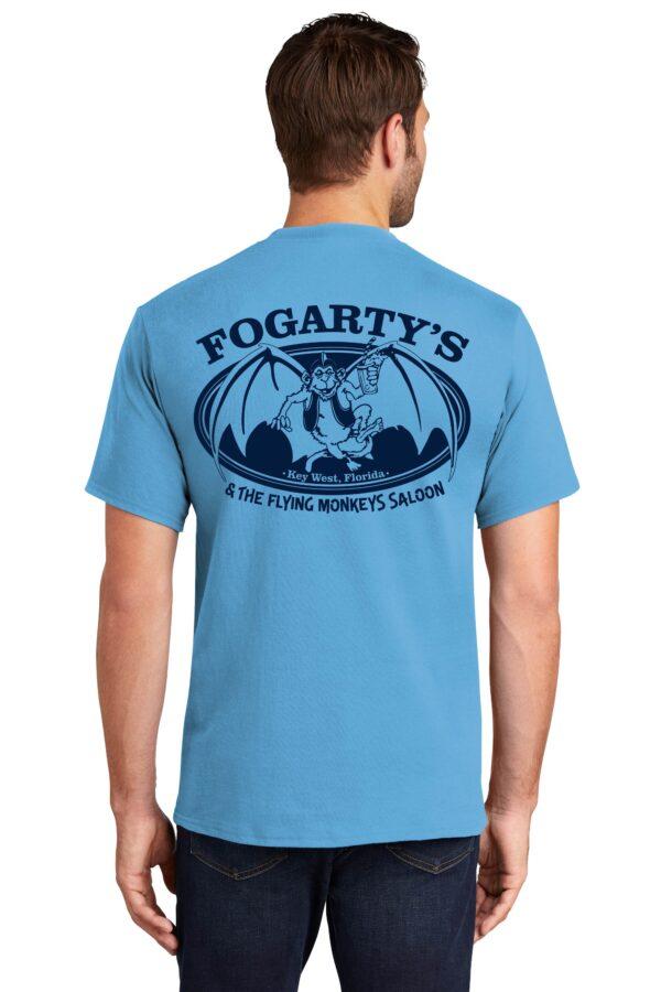 fogartys flying monkeys short sleeve t shirt blue back