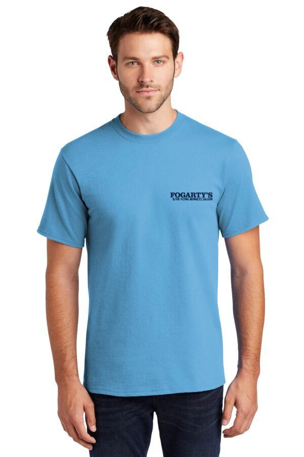 fogartys flying monkeys short sleeve t shirt blue front