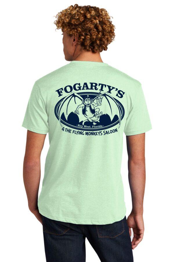 fogartys flying monkeys short sleeve t shirt green back